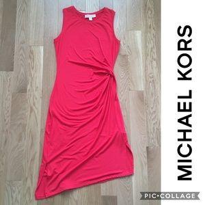 Michael Kors Petite Draped-Side Sleeveless Dress